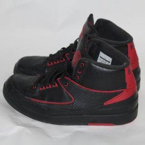 "Nke Air Jordan 2 Retro ""Alternate '87"" Black/red"